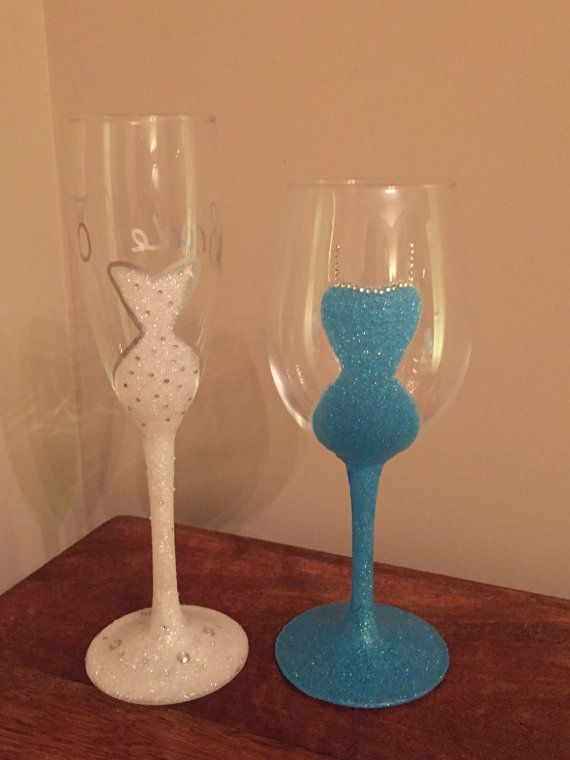 Glitter dress wine glass by HandcraftedGlitter on Etsy