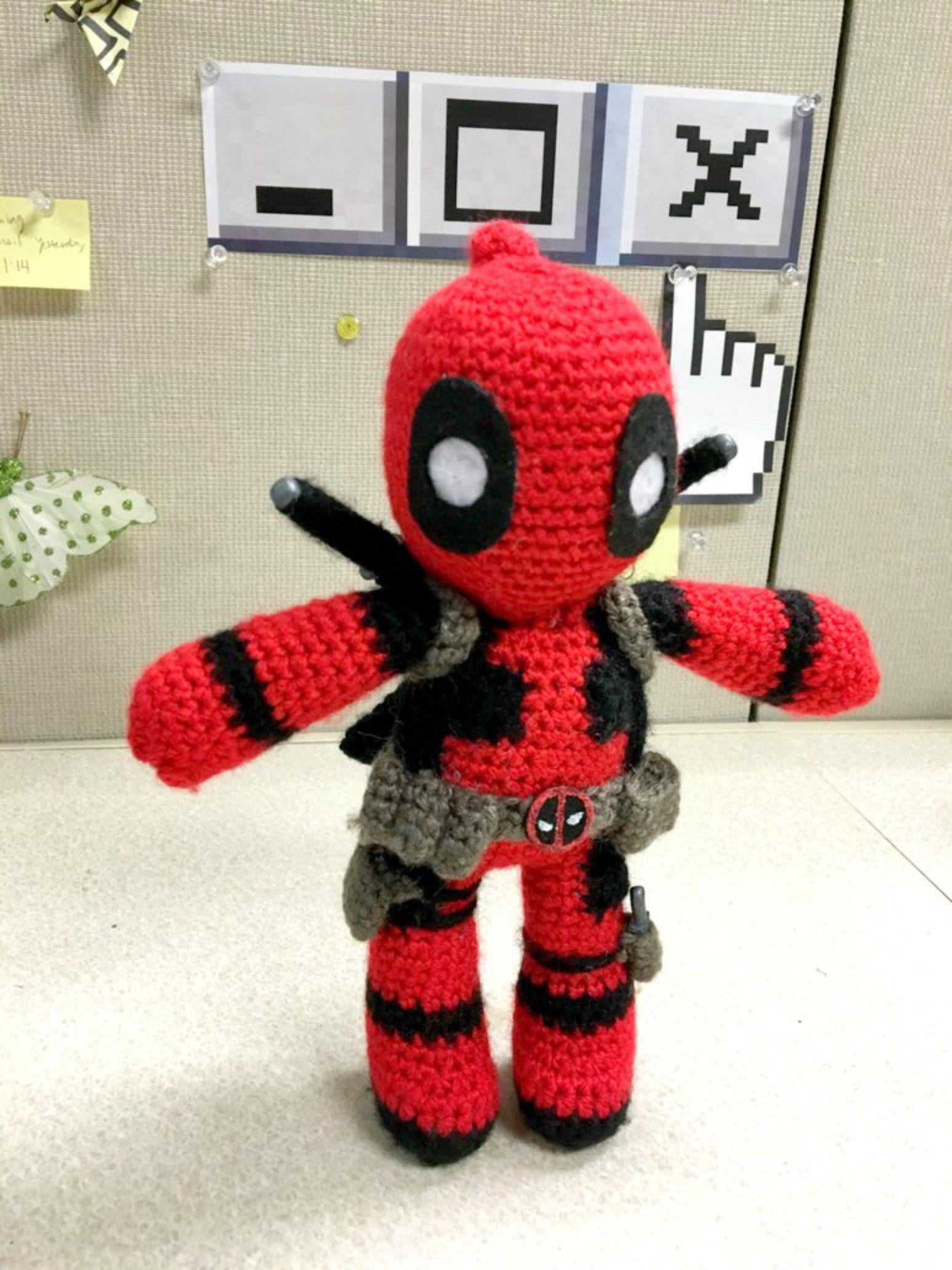 Check out my Deadpool Amigurumi by FindMolly on @DeviantArt!   örgü ...