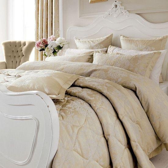 Dorma Gold Clara Collection Duvet Cover   Dunelm   bedroom ... : dorma quilted bedspreads - Adamdwight.com
