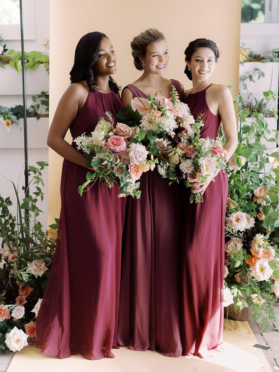 Sunset Hues And Dusty Blues This Spring 2020 Collection Has Bridesmaids Dresses For Every Wedding Color Palette Bridesmaid Colors Spring Bridesmaid Dresses Bridesmaid Dress Color Schemes [ 1200 x 900 Pixel ]