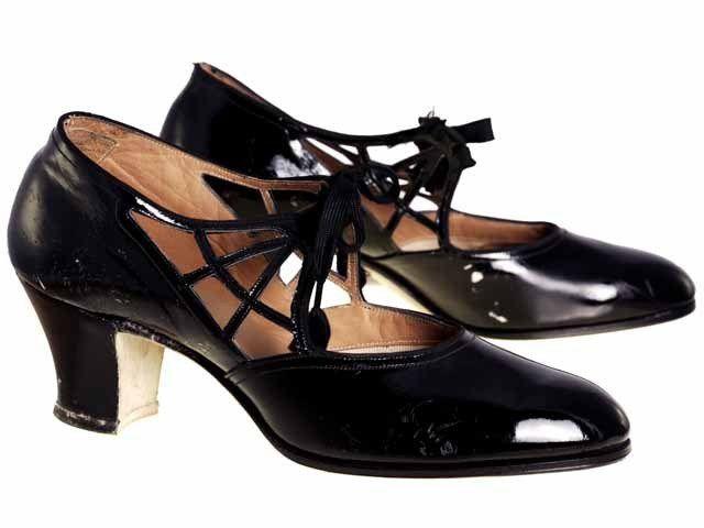 1920s Black Patent Leather Women S Shoe Roaring 20s Shoes Vintage Shoes Shoes