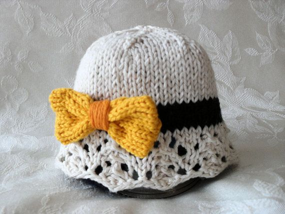 Baby Hat Knitting Knitted Baby Cloche Knit Baby Hats Baby Girl ...