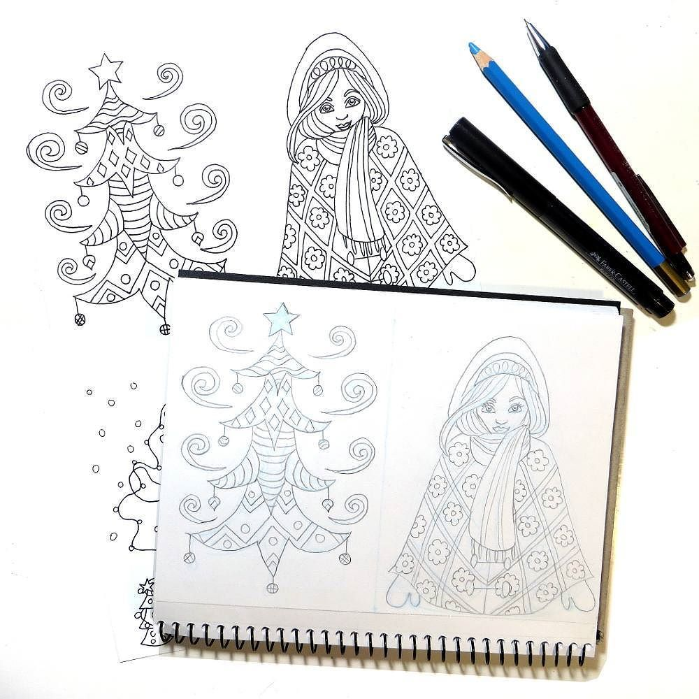 I Drew And Edited Christmas Coloring Cards While Watching Paint Along Videos By Missleilanijoy Leilaniloo Christmas Coloring Cards Creative Christmas Colors