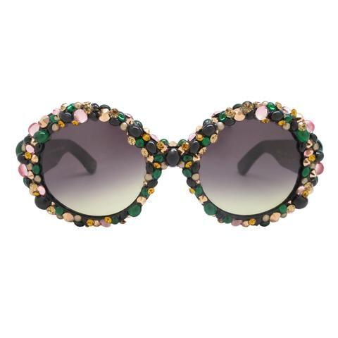 Brill oversized embellished sunglasses