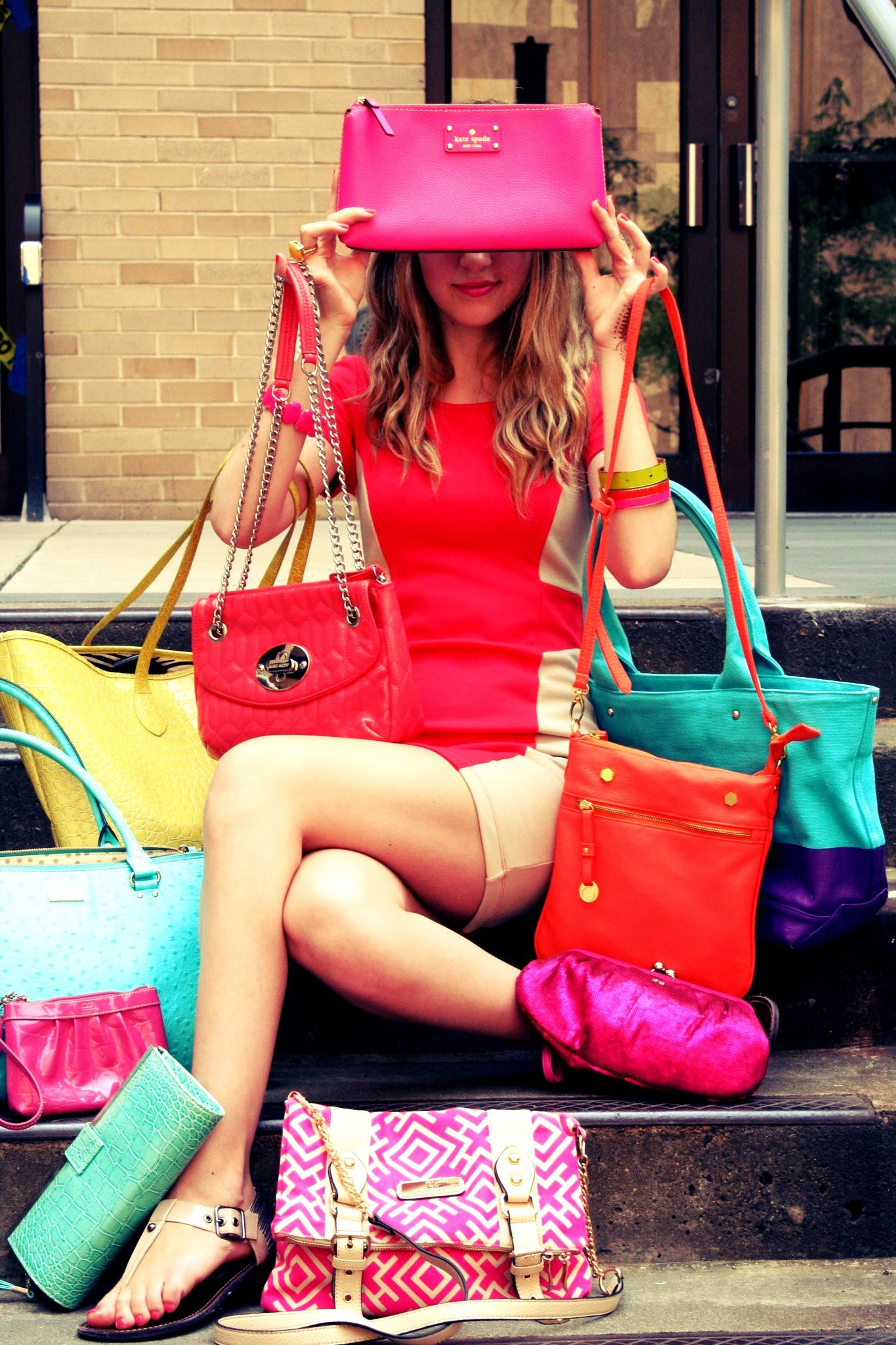 Colorful bags!