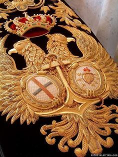 Image result for goldwork double headed eagle