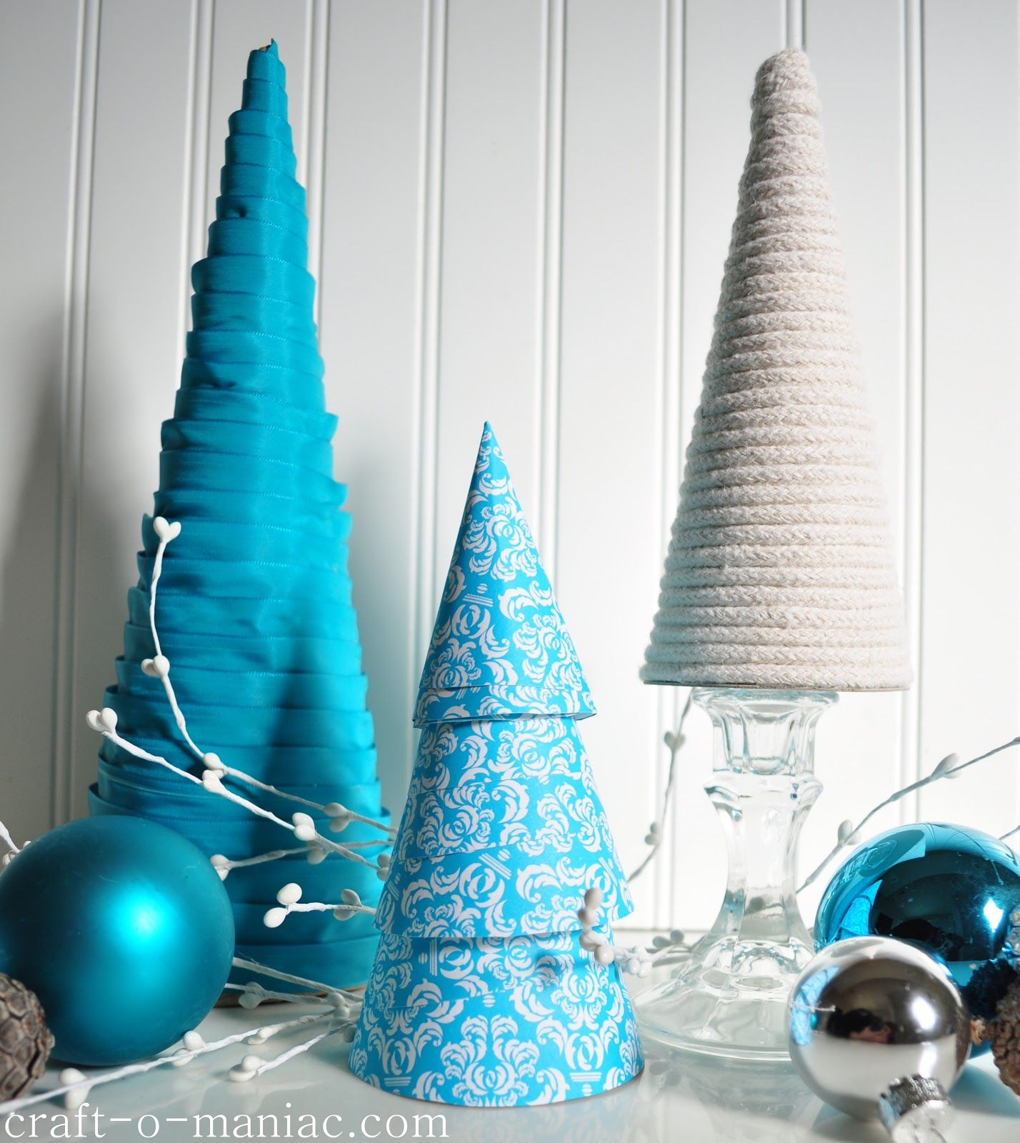 Craft O Maniac: DIY Christmas Tree Cones Made With Paper, Rope And Awesome Ideas