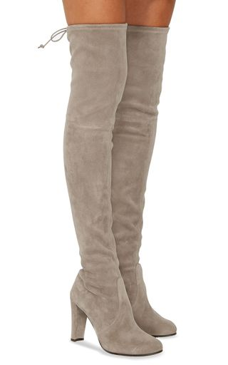 7c5e49d384a These   Stuart Weitzman   boots are rendered in suede cowhide leather and  feature an over the knee style and are backed with Lycra to create the fit  factor ...