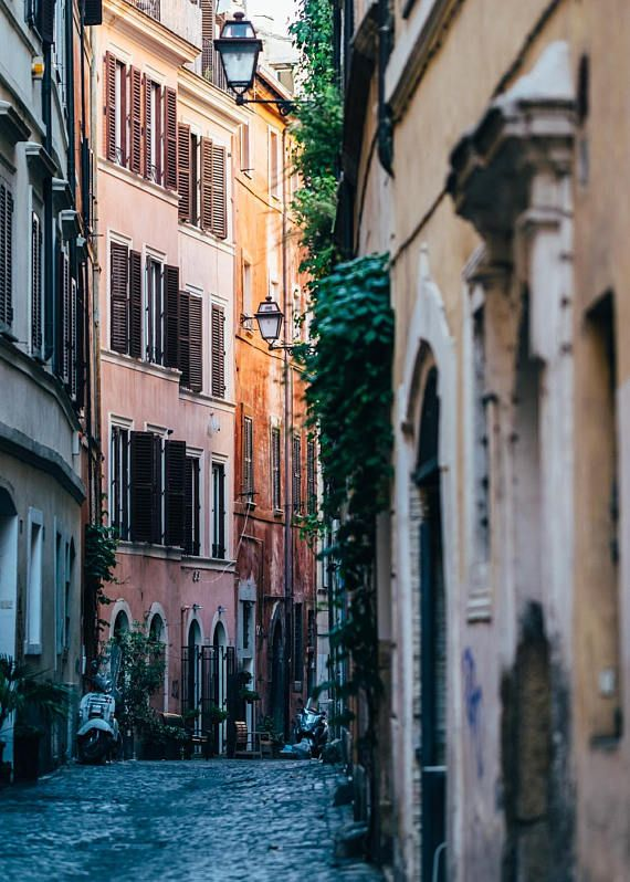 italy photography pastel street in rome rome on simply wall street id=43415