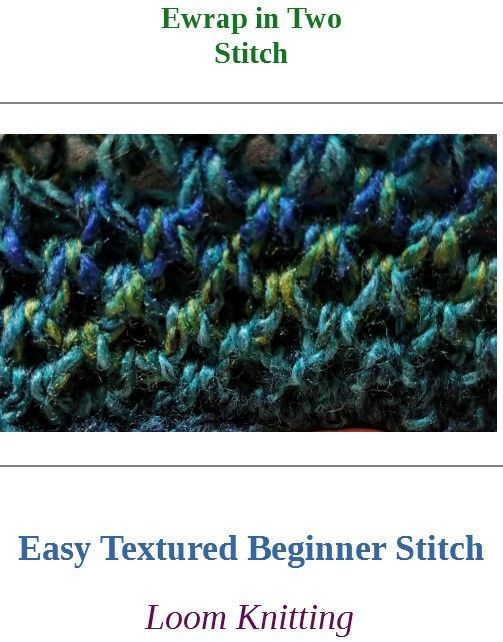 Photo of Ewrap in Two Stitch is an easy stitch good for hat brims, hats, cowls, and headb…