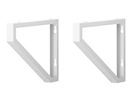 Ikea Shelf Bracket Ekby Lerberg Set Of 2 White Powder Coated