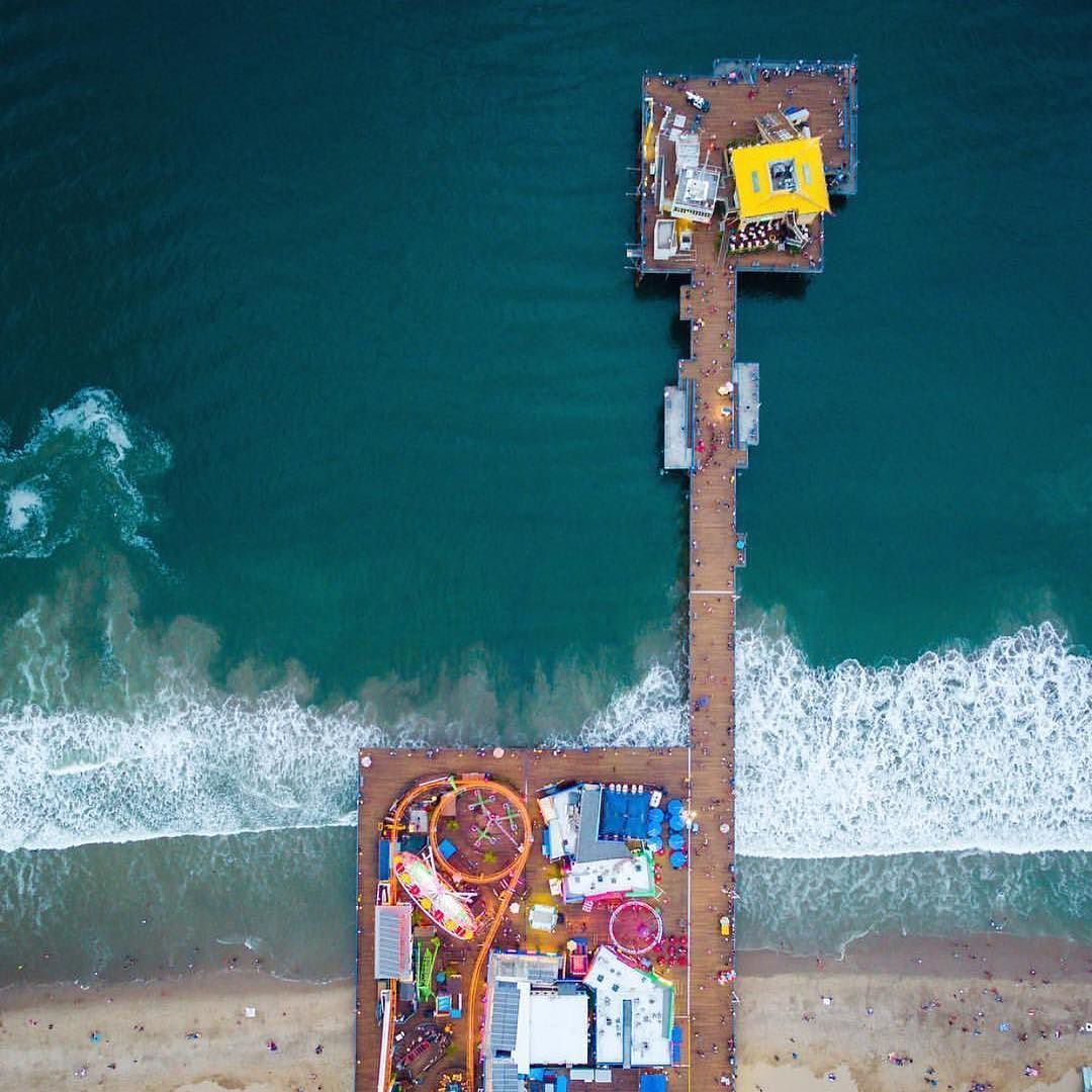 All fun! Santa Monica Pier : @sendingstache #californiaadventure #westcoast