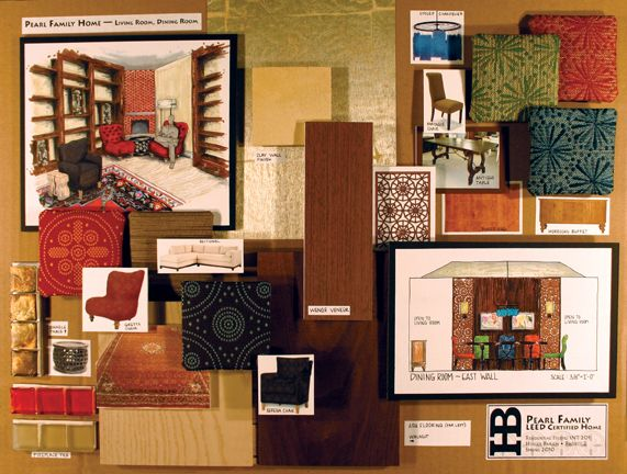 Holley bakich interior design presentation board metode - Materials needed for interior design ...