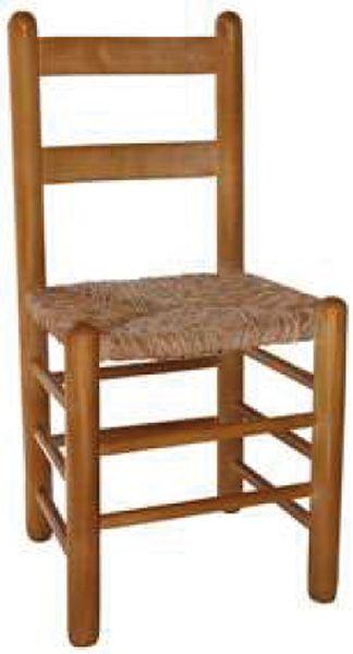 Silla comedor madera Duquesa R90 asiento de anea enea