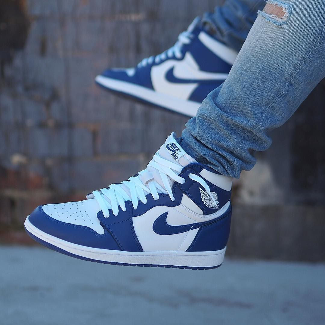 Air Jordan 1 Retro High Og Storm Blue Kicks Shoes