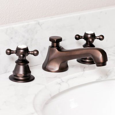 Photo of Carlson Widespread Bathroom Faucet with Drain Assembly Finish: Oil Rubbed Bronze