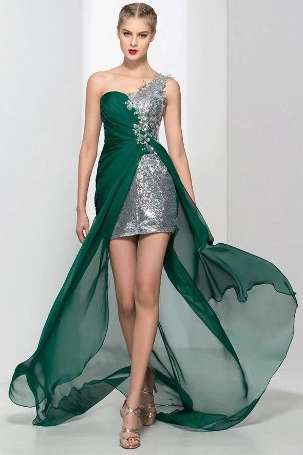 Long TwoPiece Jeweled OpenBack Prom Dress Grad dresses