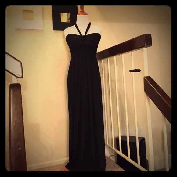 Catwalk Studio Maxi Floor Length With Runched Braided Bust Can Tie Around Neck Or