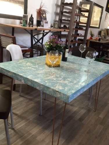 Mesa vintage retro para restaurantes cafeter as bares for Mesas para restaurante