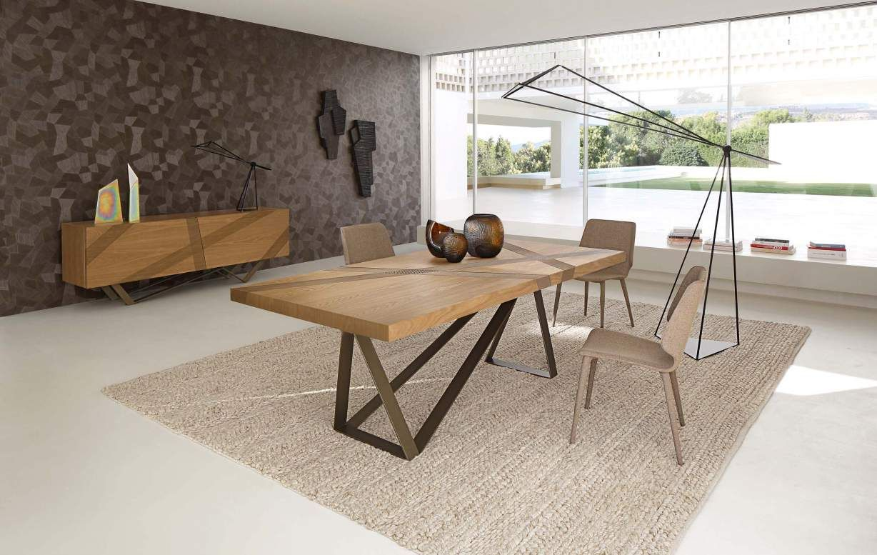 Roche Bobois Track Dining Table Contemporary Dining Table Oak