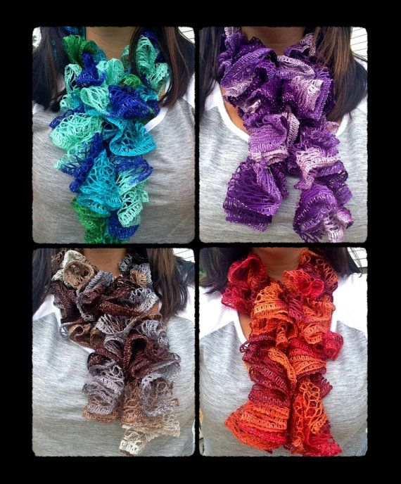 Crochet Ruffle Scarf, Sashay Scarf, Ruffle Scarf, Sashay Scarf ...