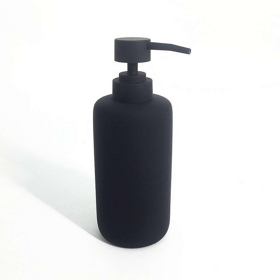 Elements Matt Black Lotion Dispenser Dunelm In 2020 Lotion Dispenser Bathroom Soap Dispenser Dispenser