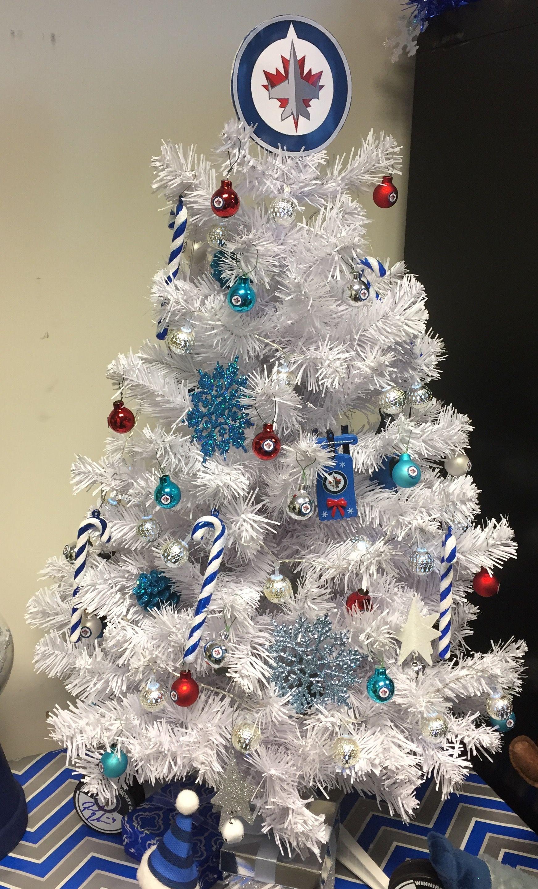 Winnipeg Jets Christmas Tree by Suzy Q