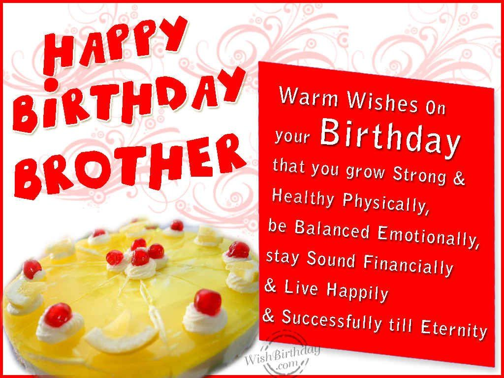 Happy birthday brother wishes httphappybirthdaywishesonline birthday wishes for brother cards greetings messages and kristyandbryce Choice Image