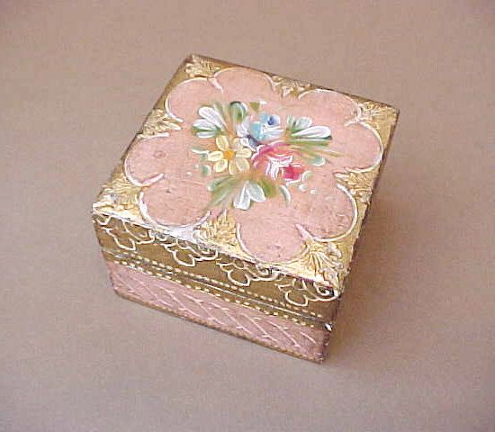 Darling Vintage Hand Painted Florentine Wooden by TheJewelMystique, $20.00