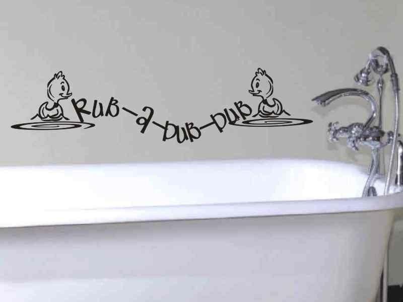 Bathroom Wall Decal Rub   A   Dub   Dub With Ducks Bathroom Wall Decor |  Vgwalldecals.com