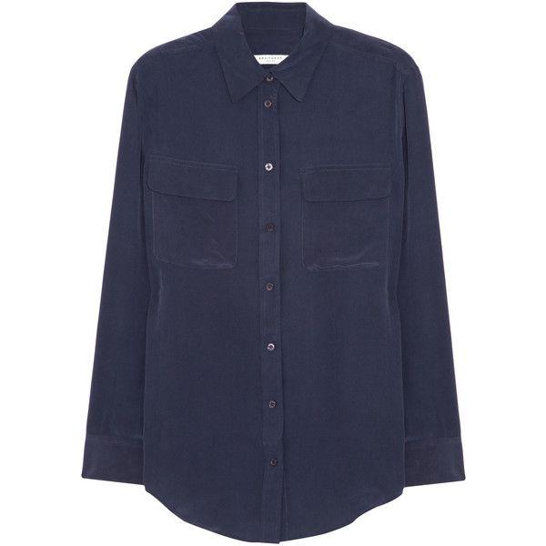 Capsule wardrobe · Equipment Signature washed-silk ...