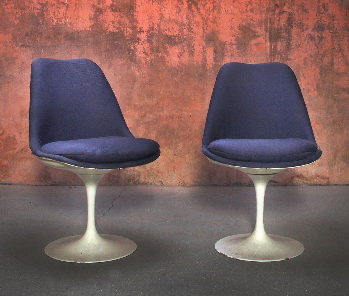 For sale set of two swivel tulip chairs by eero saarinen