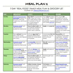 100 days of real food meal plan!