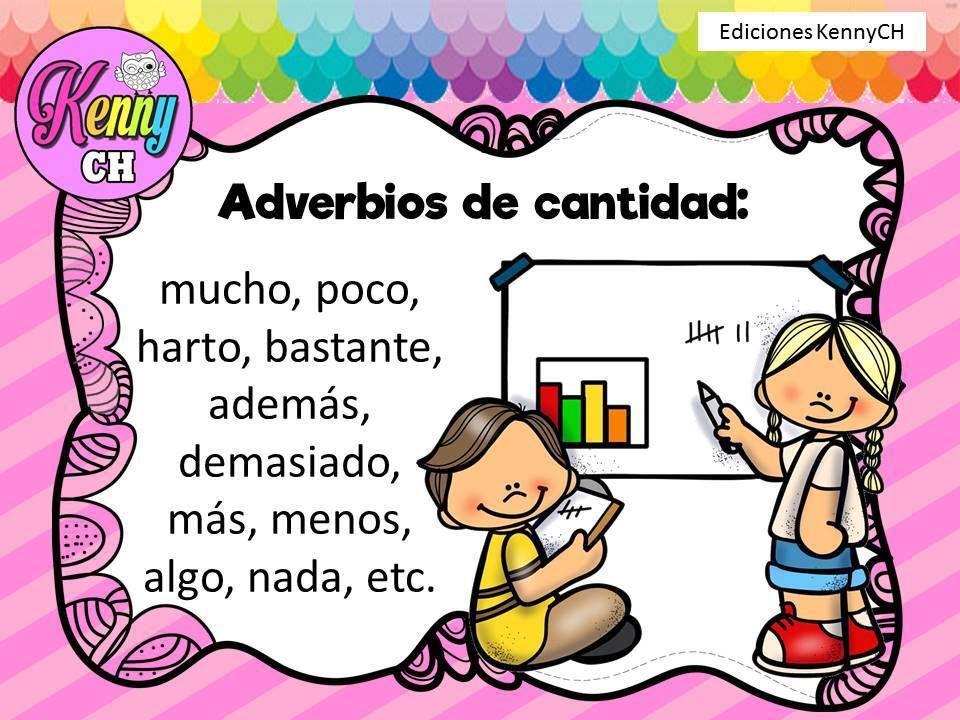 Tarjetas Para Trabajar Los Adverbios Adverbios De Cantidad Adverbios Imagenes Educativas