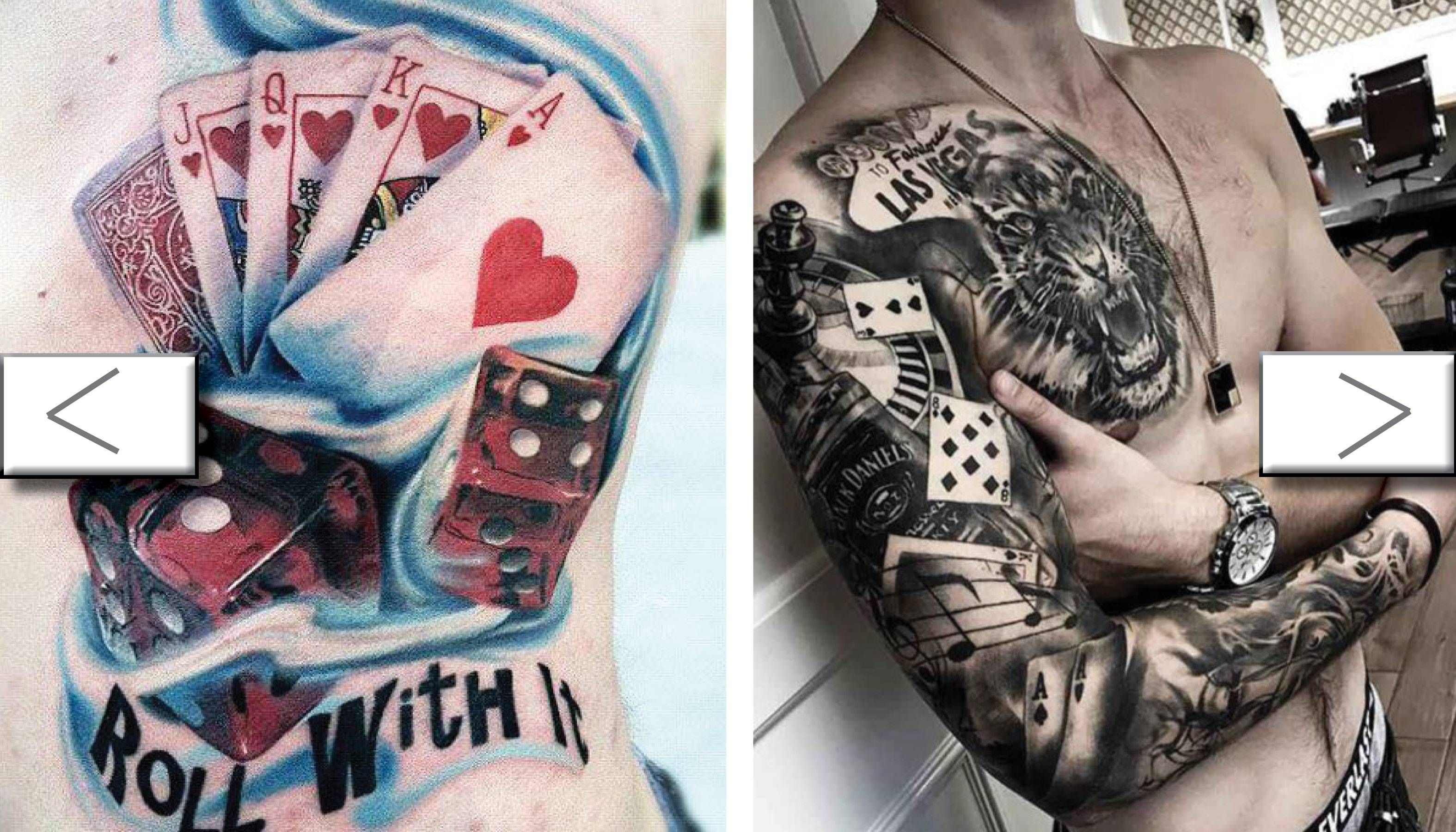 is there a difference between betting and gambling tattoos