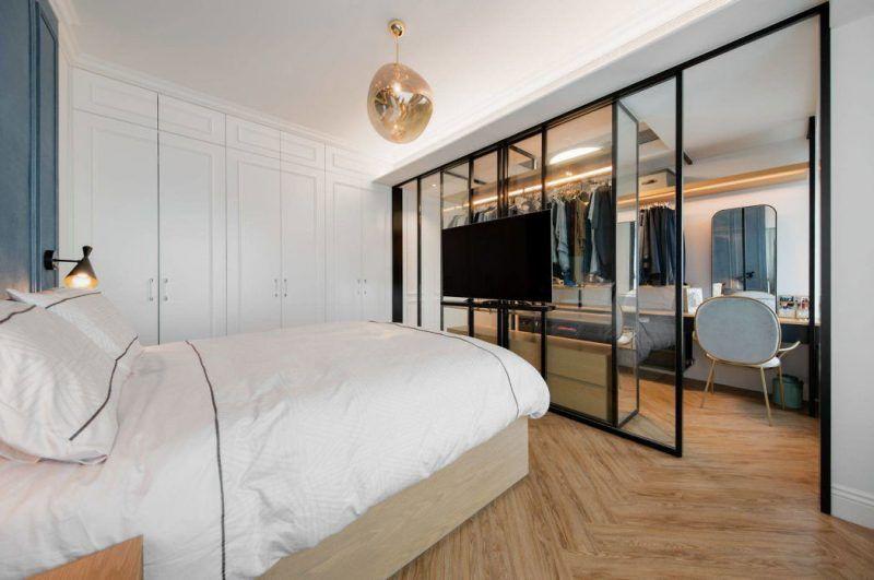 Glazen Wand Slaapkamer : Glazen wand slaapkamer moderne zwart wit badkamer met een
