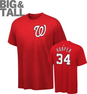 the best attitude 9568c af878 Washington Nationals Big and Tall Apparel – T-Shirts. Bryce ...