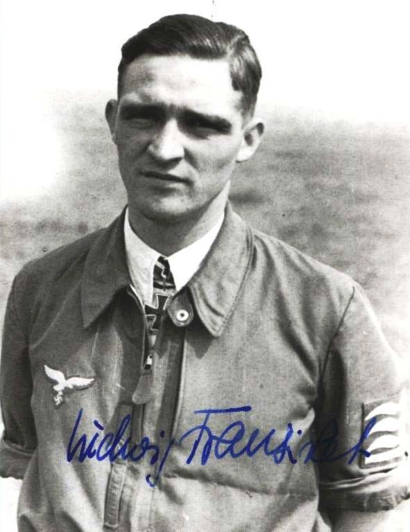 "Major Ludwig ""Zirkus"" Franzisket  ""Zirkus"" Franzisket was credited with 43 victories in over 500 missions. He recorded all his victories over the Western front. Included in his victory total are four four-engined bombers."