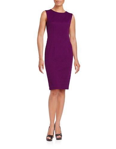 8782f7b9 Betsey Johnson Diamond Jacquard Dress Women's Aubergin 4 | Products ...