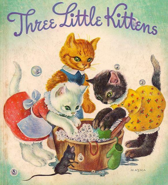 Three Little Kittens 1942 Little Golden Books Childhood Books