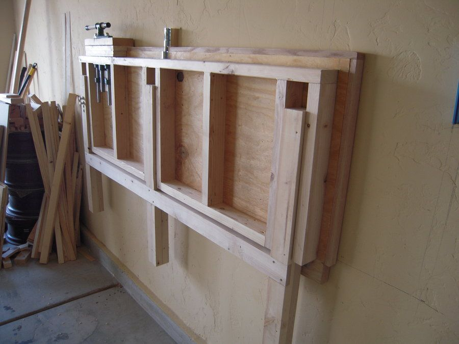 Fold Down Work Bench For My Garage Work Shop By