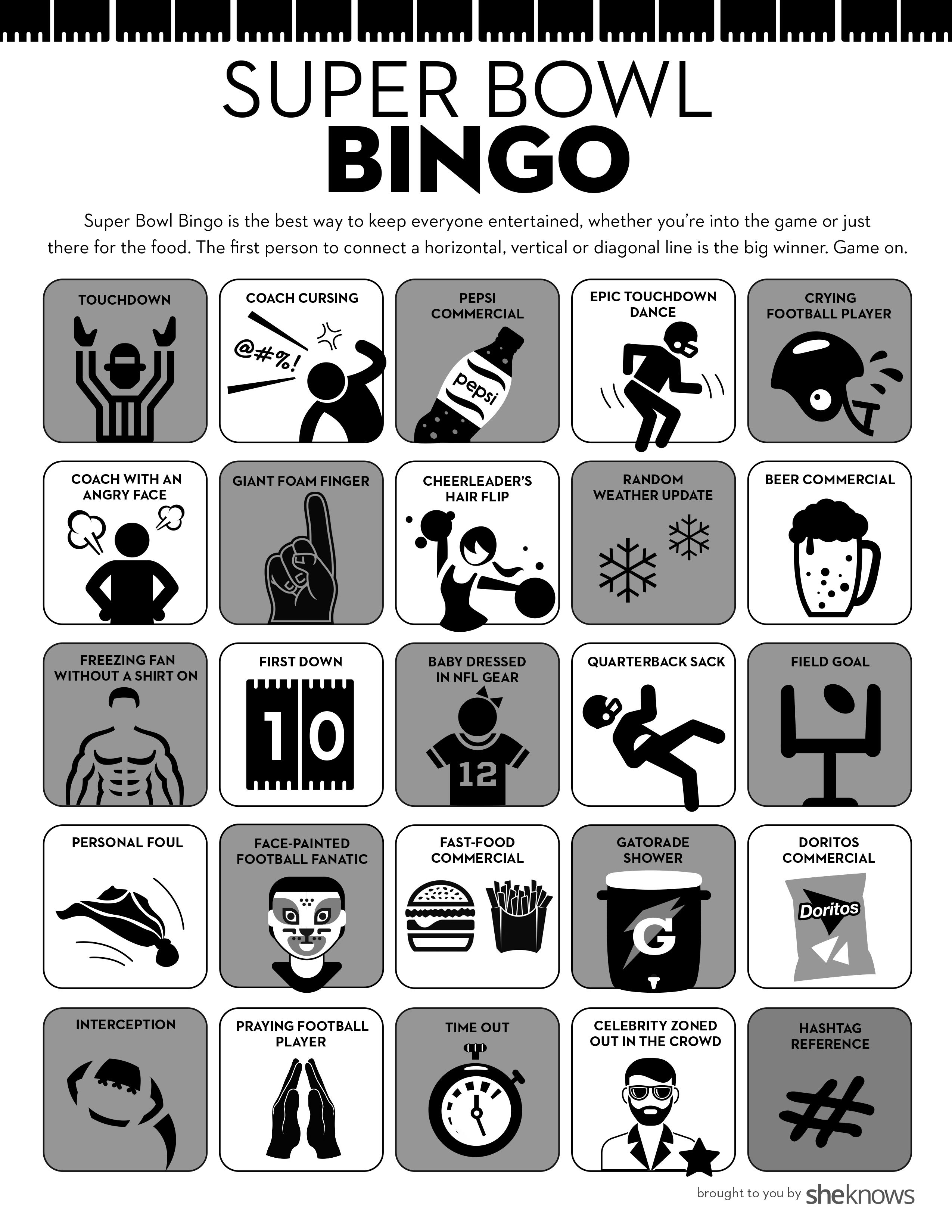 photograph regarding Printable Super Bowl Bingo Cards called Printable Tremendous Bowl Bingo playing cards preserve every person intrigued