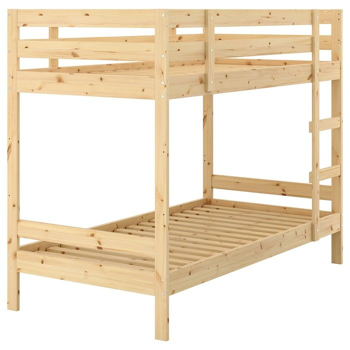 Mydal Bunk Bed Frame Pine Twin In 2020 Pine Bunk Beds