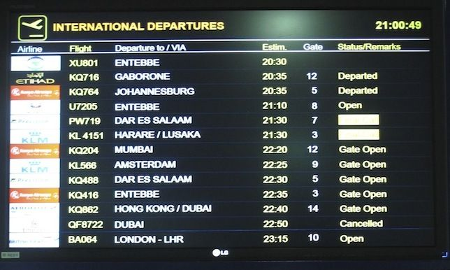 South African Airways the Southern African destinations