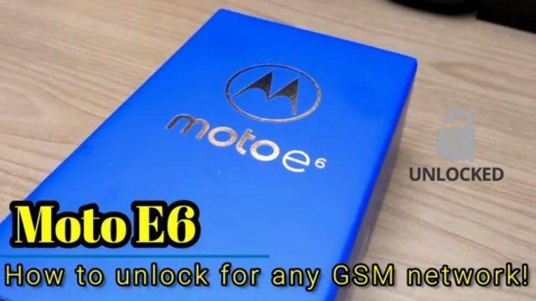 How to unlock motorola moto e6 free by imei unlocky in