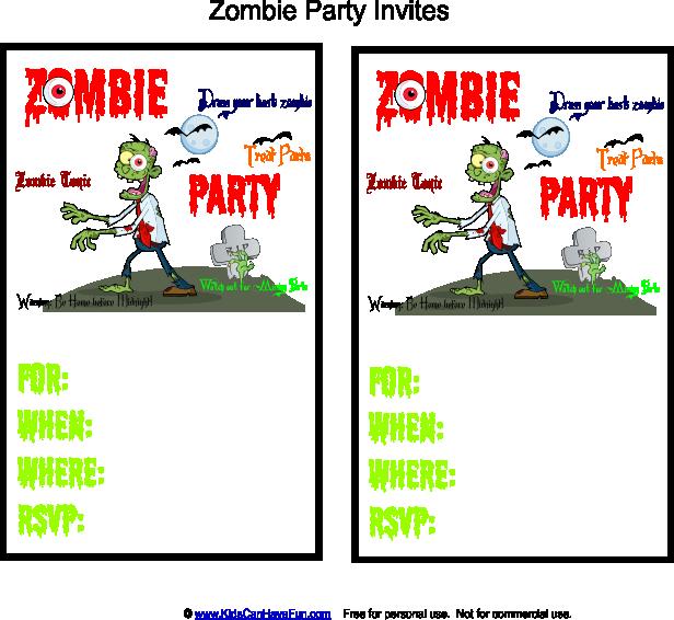 Zombie Party Invites Halloween Party Ideas Pinterest Zombie