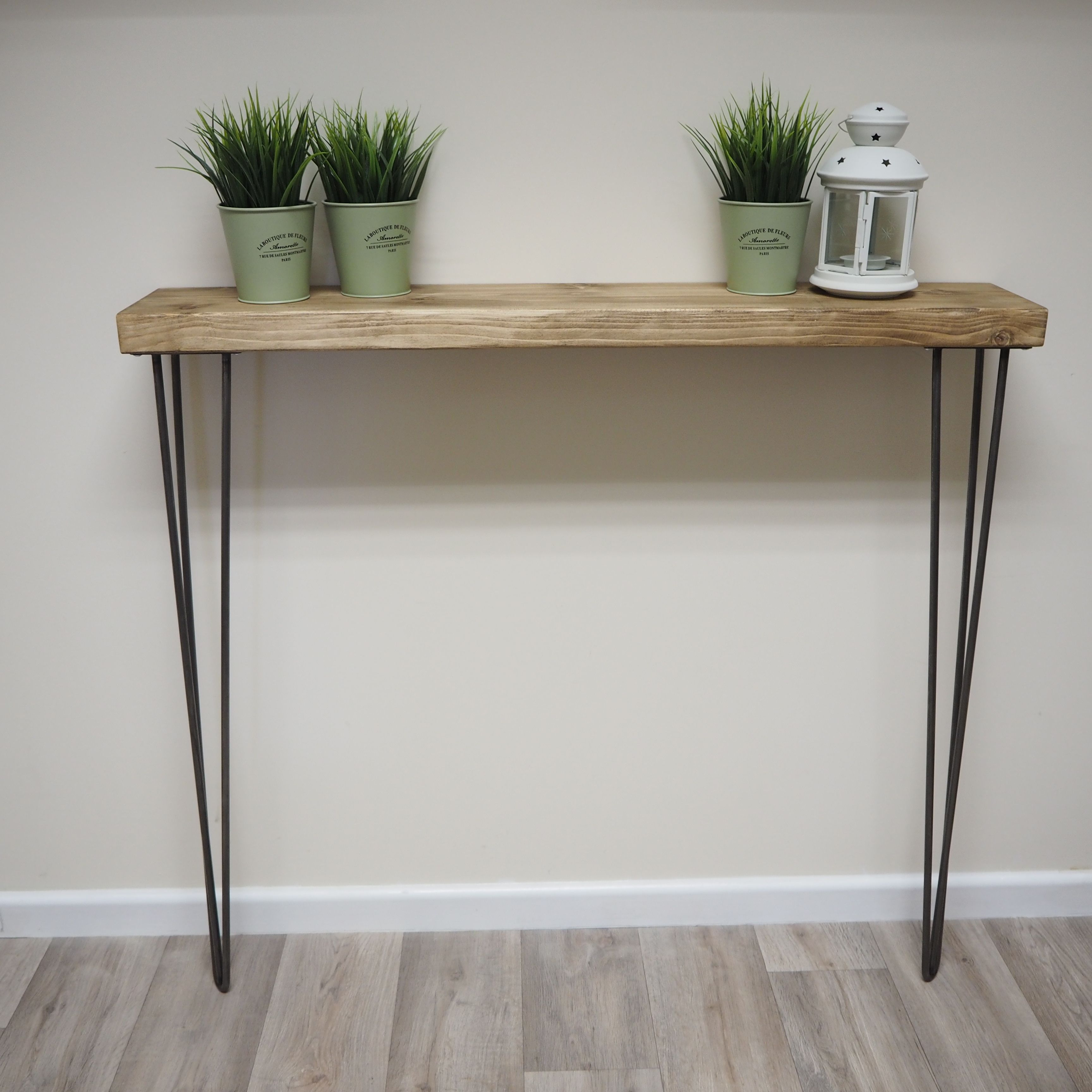 Rustic Narrow Console Table Shelf With Hairpin Legs Narrow Console Table Rustic Hallway Table Hallway Table