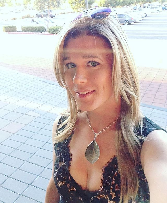 Transexual cute blonde, fucking line