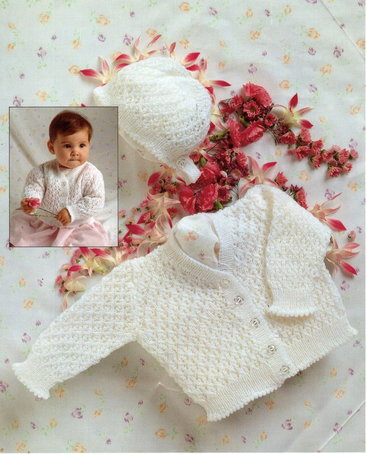 "8009 Stylecraft Knitting Pattern: Baby Cardigan /& Sweater 12-22/"" DK"