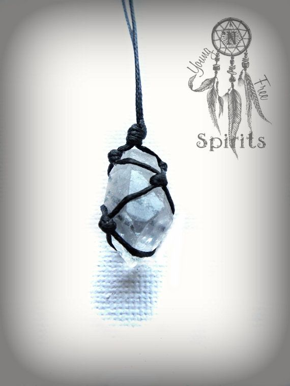 Raw Crystal Necklace Boho Crystal Necklace by YoungNFreeSpirits